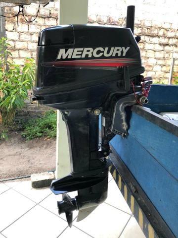 Motor de popa Mercury 15 Hp Super - Foto 3