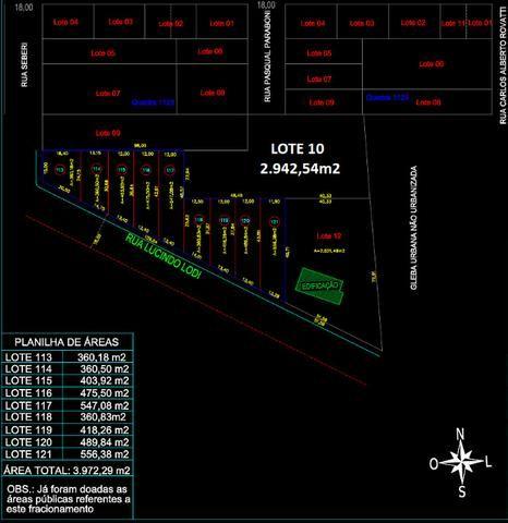 Vendo terreno de 2.942 m2 no Bairro Primeiro de Maio - Foto 3