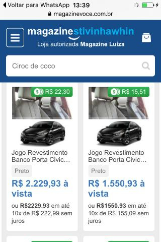 Jogo de revestimento Banco porta civic - Foto 3