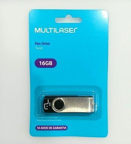 Pen Drive Twist 16gb Usb 2.0 Leitura 10mb/s E Gravação 3mb/s Pre