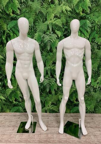 Manequim Fibra Masculino Branco - Foto 3
