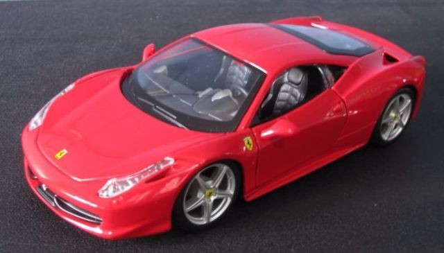 Ferrari Vermelha Maisto 458 Itália Novo