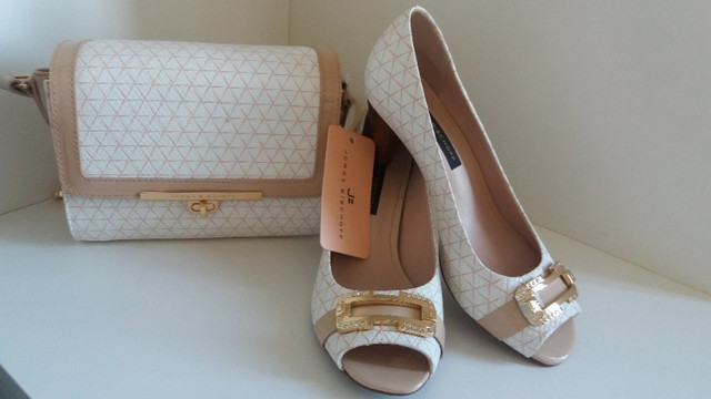 Bolsa + Sapatos Peep Toe Jorge Bischoff Puro Glamour!