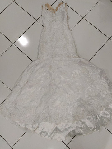 Vestido de noiva renda sem manga - Foto 2