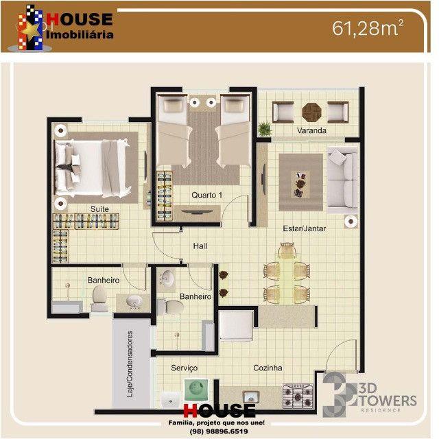 3D Towers, 2 quartos - Foto 8