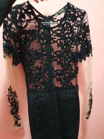 vestido preto com transparência  - Foto 5