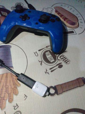 Controle para Nintendo/Pc/Celular com fio face off deluxe azul pdp - Foto 5
