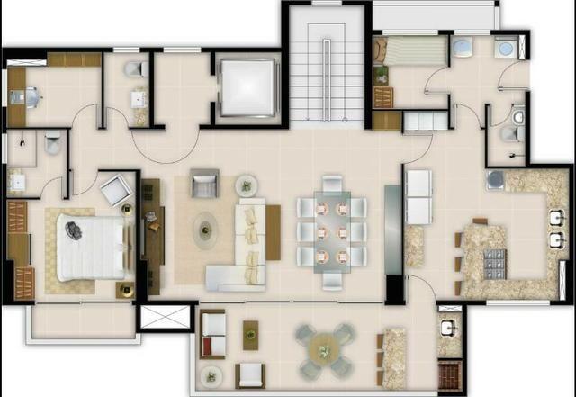 AD0001 - Apartamento Duplex, 4 Suítes, 4 Vagas, Ed. Spring Live Park, Guararapes - Foto 7