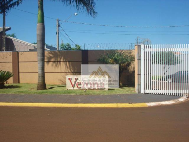 Terreno à venda, 200 m² por r$ 78.000 - condomínio verona - brodowski/sp