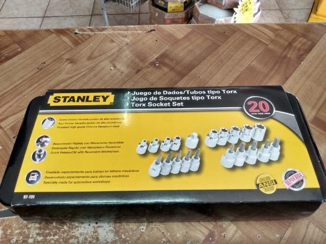 Jogo chave torx stanley 20pcs R$150,00 a vista novo sem uso - Foto 3