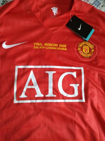 7a39502e4 Camisa Nova Manchester United - Final Champions 08-  7 C. Ronaldo ...