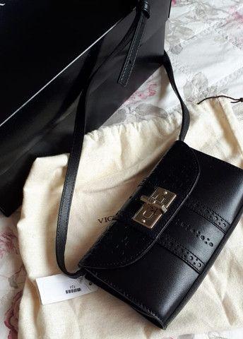 Bolsa Victor Hugo original nova (na caixa) - modelo VDuomo Black - Foto 2