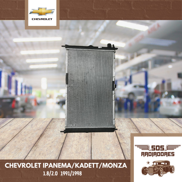 Radiador Chevrolet Ipanema/Kadett/Monza 1991/1998 - Foto 2