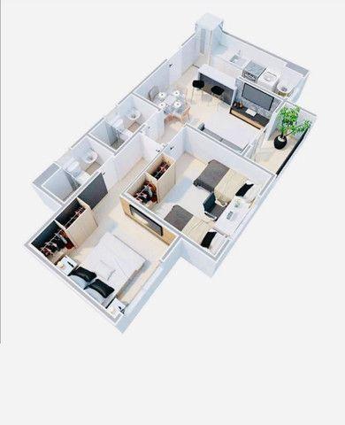 WS apartamentos com 2 quartos 2 banheiros com entrada parcelada em ate 60x - Foto 8