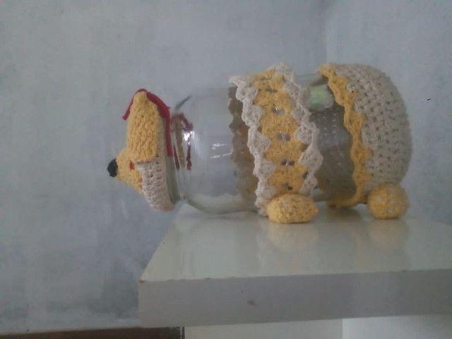 Artesanato cachorrinho de crochê - Foto 2