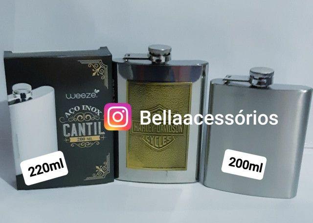 Cantil Bebidas Presenteavel  inox com estampa ou sem