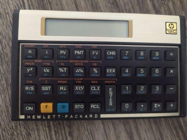 Calculadora Financeira, hp 12C, Cor ouro.
