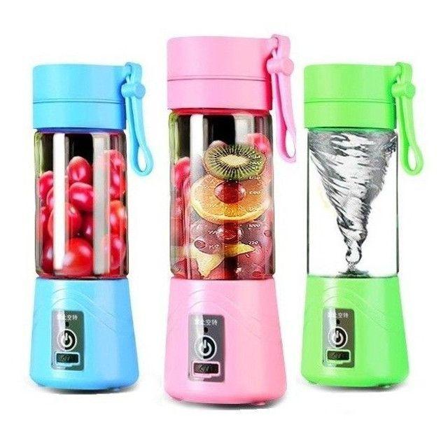 Mini Liquidificador Portátil Shake Take Juice Cup 6 Lâminas Recarregável - Foto 2
