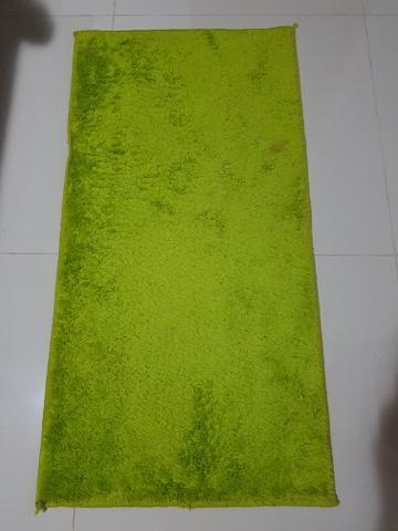 Tapete felpudo verde