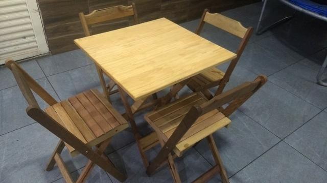 Mesas rústica de madeira 350 reais o jogo - Foto 2