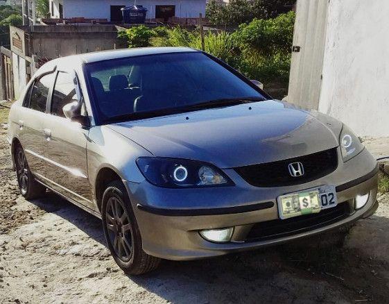 Honda Civic 04/05 lxl 1.7L Automático Geração 7 Completo com GNV