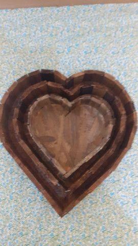 Coração em madeira - Foto 4