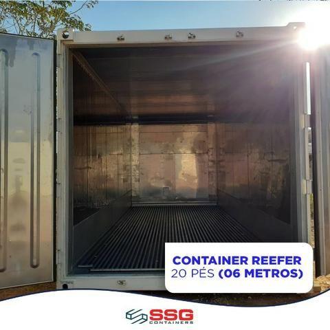 Locação container refrigerado 06 metros 20 pés -30°C congelado e resfriado - Foto 2