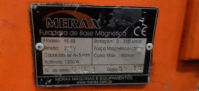Furadeira com base magnetica merax - Foto 3