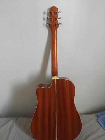 Vendo Violão strinberg folk sd20c mogno (troco por guitarra e cubo) - Foto 2