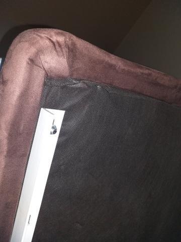 Cama bau americana nobuck (Ortobom) novinha - Foto 2