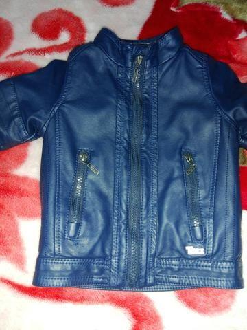 Jaqueta courino infantil azul marinho  - Foto 4