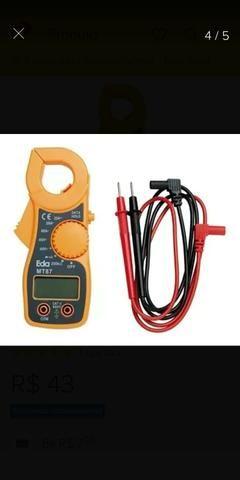 Mini Alicate Amperímetro Digital Aviso Sonoro Mt87 - Foto 3