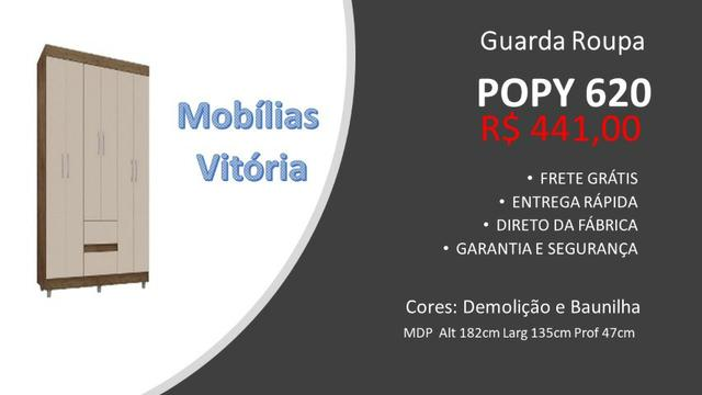 Guarda Roupa Popy 620 - Frete Grátis