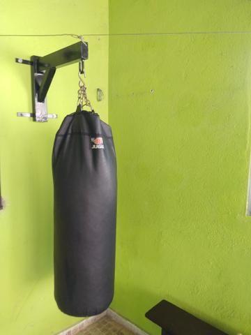 Saco de box com o Suporte para pendurar!!!