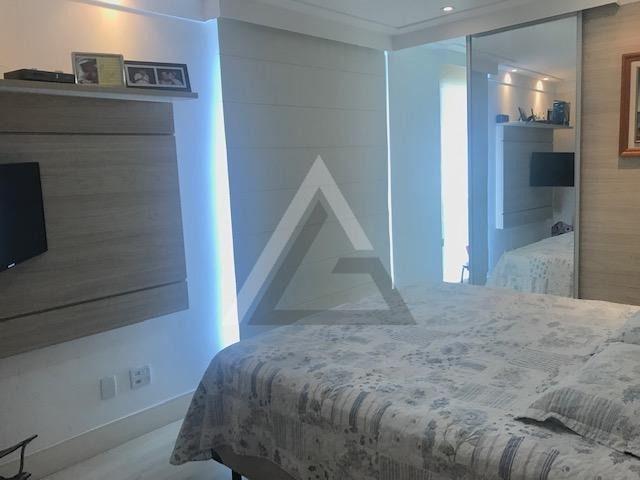 Apartamento mobiliado, nascente, andar alto 4 quartos em Patamares/Salvador-BA - Foto 11