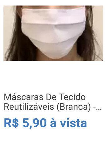 Máscaras De Tecido Reutilizáveis (Branca) - Promoção!!! - Alane Metais