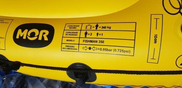 Barco Inflável Mor Fishman 350 + 2 remos + inflador - Foto 4
