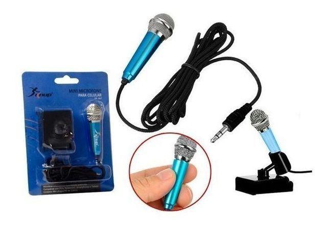 Mini Microfone P2 Para Gravação Celular Youtube Rosa Kp907