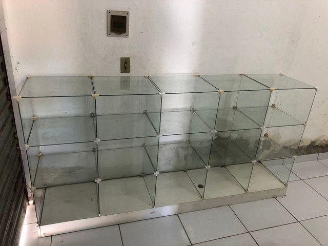 Balcão de vidro para estabelecimento