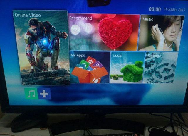 TV Box 5G - 32gb -Transforme sua TV em Smartv - Netflix, YouTube e net - Foto 6