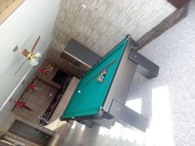 Mesa Charme de Sinuca Cor Preta Tecido Verde Mod. LAZS7032 - Foto 2