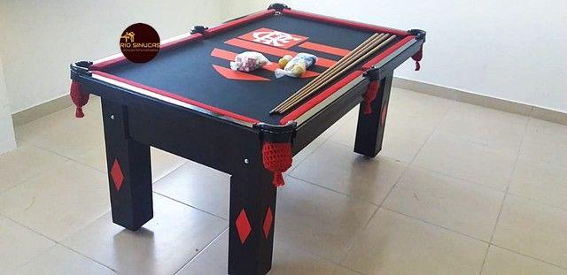 Sinuca Flamengo Multi Uso Ping Pong 2 Em 1 - Foto 3