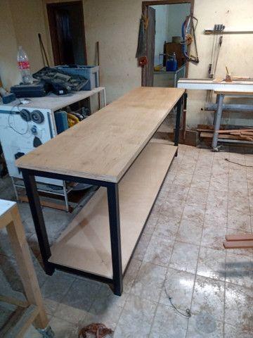 Fabricação de Mesa, Escrivaninha, Bancada Estilo Industrial - Foto 5