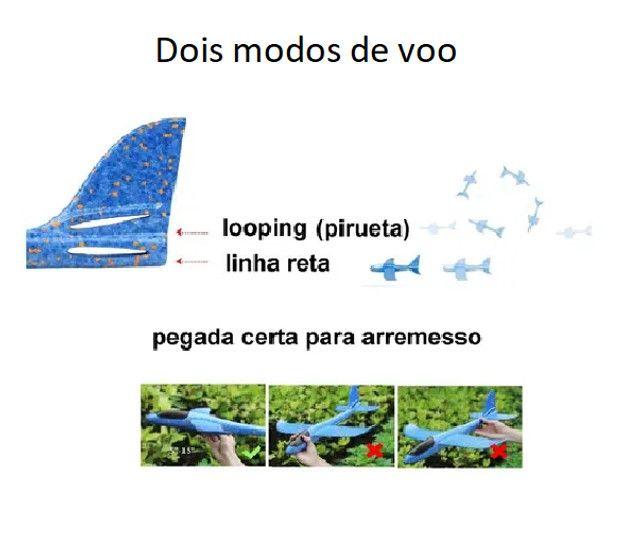 Avião de Brinquedo Planador De Isopor Flexível Com Led - Foto 3