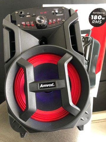 Caixa de Som Amvox Aca 188 Gigante Bluetooth - Amplificada 180W USB com Tweeter