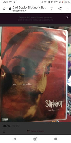 Slipknot live At download 2009 usado
