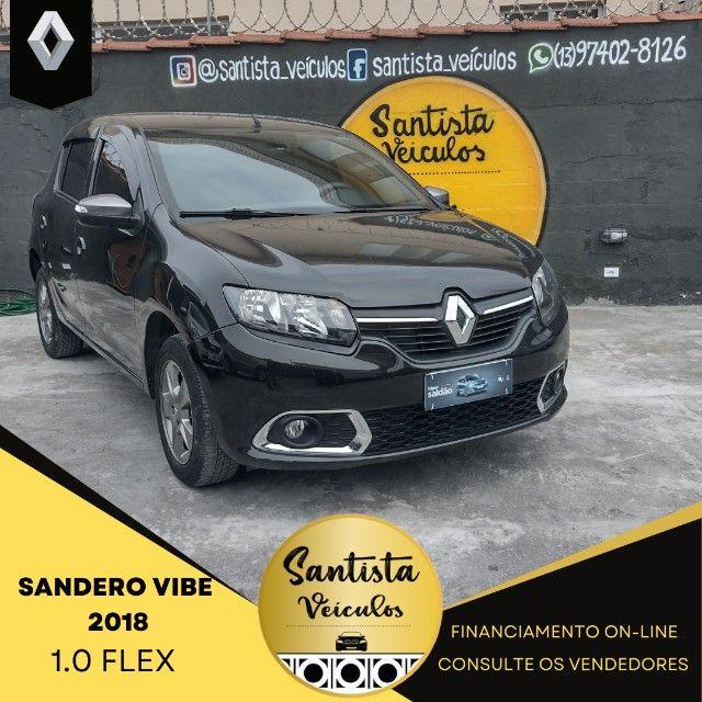 Sandero Vibe 2018 72 mil KM 1.0 Completo !