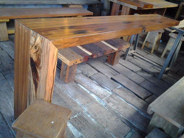 Bancadas de madeira valores variados - Foto 2