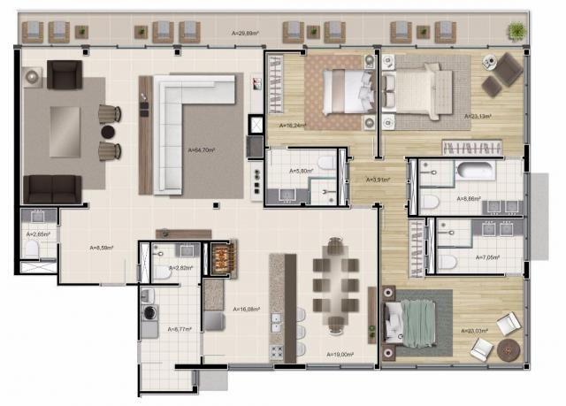 Apartamento com 3 dormitórios à venda, 313 m² por r$ 5.321.000,00 - gramado - gramado/rs - Foto 15