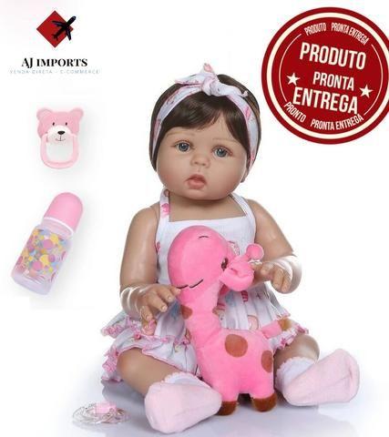 Bebê Reborn 100% Silicone + Acessórios + BRINDE - 10x sem juros